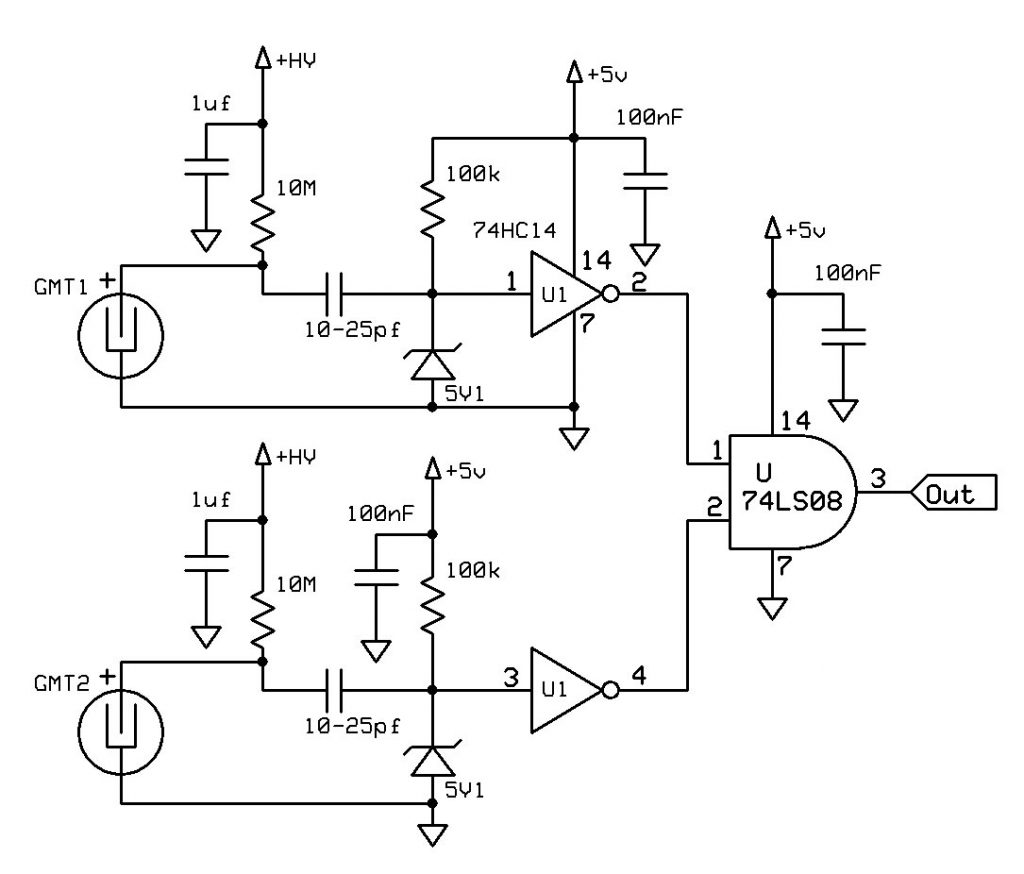 Simple 2 tube detector circuit